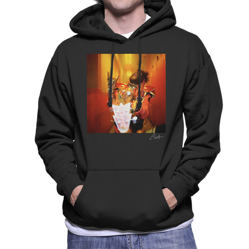 George Clinton And Parliament Funkadelic Devil Horns Men's Hooded Sweatshirt - Don't Talk To Me About Heroes
