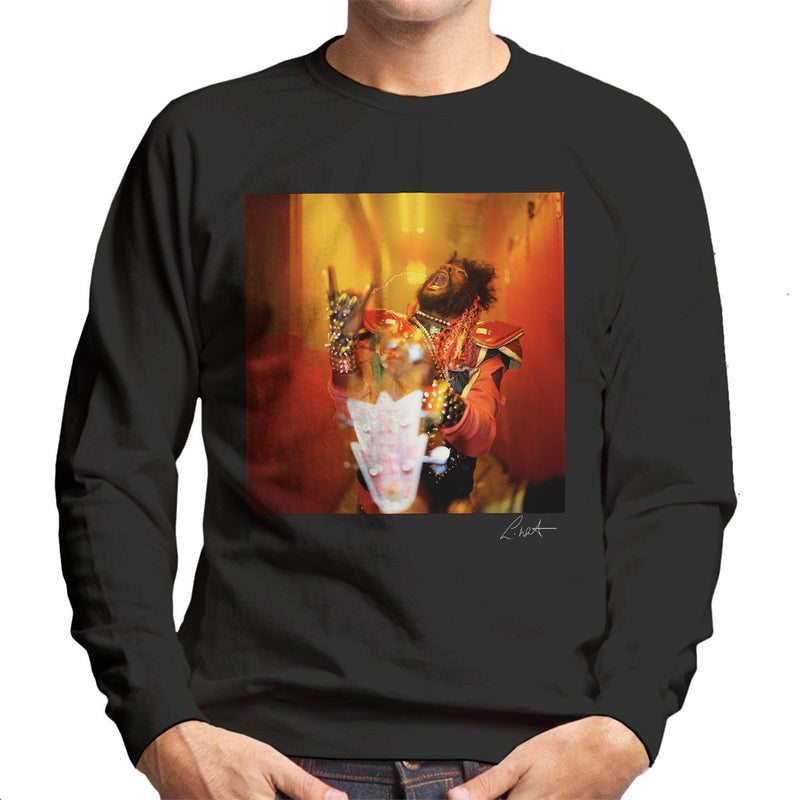 George Clinton And Parliament Funkadelic Devil Horns Men's Sweatshirt - Don't Talk To Me About Heroes
