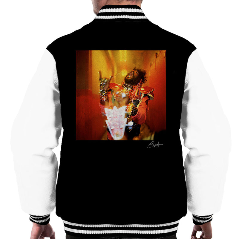 George Clinton And Parliament Funkadelic Devil Horns Men's Varsity Jacket - Don't Talk To Me About Heroes