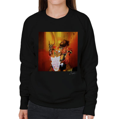 George Clinton And Parliament Funkadelic Devil Horns Women's Sweatshirt - Don't Talk To Me About Heroes