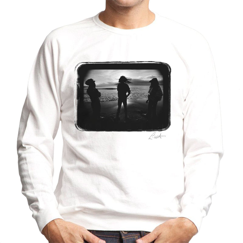 Aswad The Message Cover On Beach Men's Sweatshirt - Don't Talk To Me About Heroes
