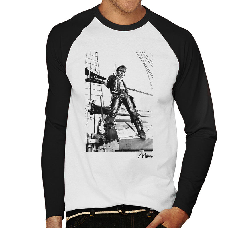 Adam Ant Prince Charming On A Ship Men's Baseball Long Sleeved T-Shirt - Don't Talk To Me About Heroes