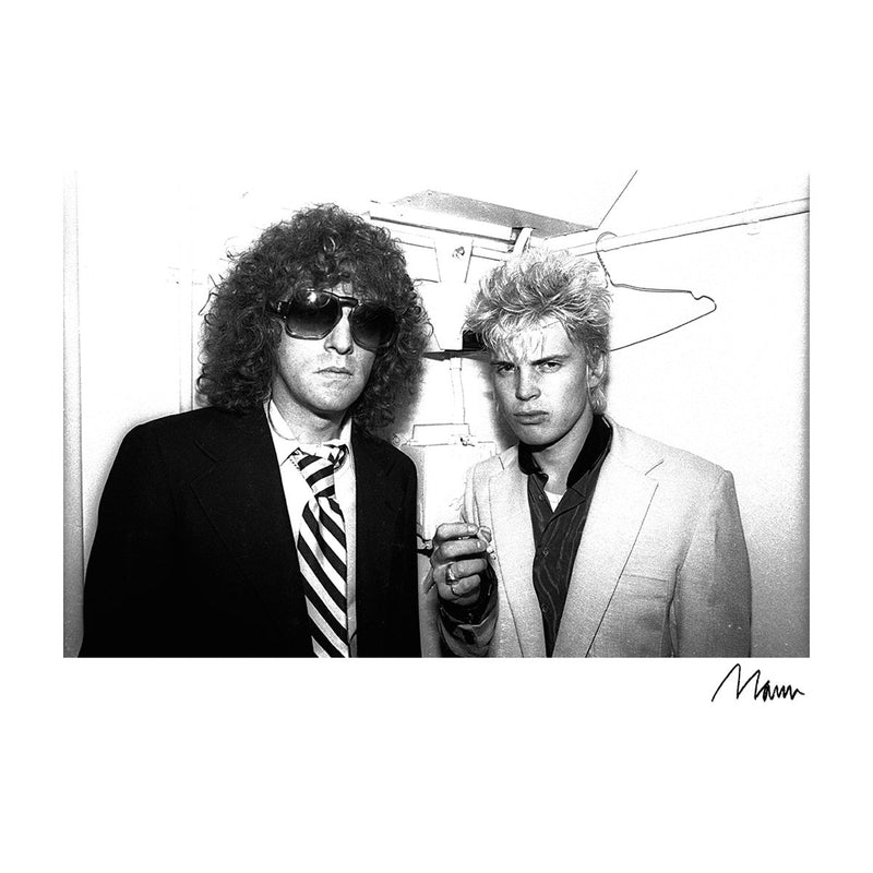 Billy Idol With Ian Hunter From Mott The Hoople Men's Sweatshirt - Don't Talk To Me About Heroes