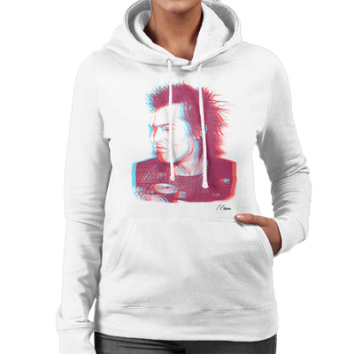 Sid Vicious Close Up With Beer Pink Women's Hooded Sweatshirt - Don't Talk To Me About Heroes