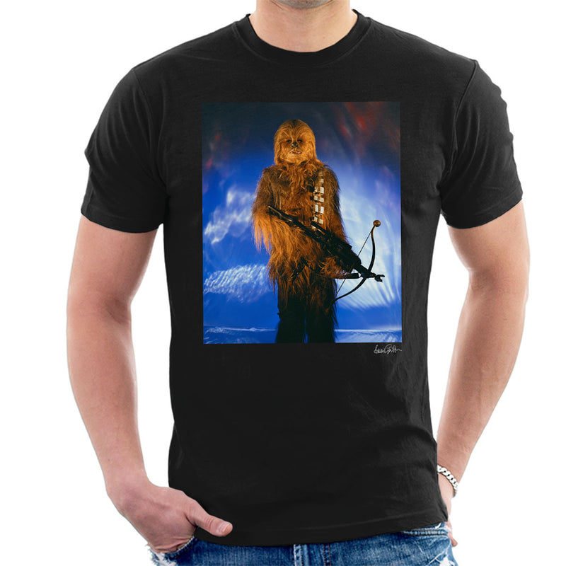 Star Wars Behind The Scenes Chewbacca Men's T-Shirt - Don't Talk To Me About Heroes