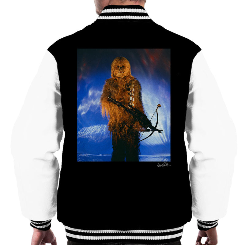 Star Wars Behind The Scenes Chewbacca Men's Varsity Jacket - Don't Talk To Me About Heroes
