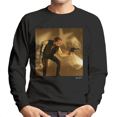 Star Wars Behind The Scenes Han Solo Gun Men's Sweatshirt - Don't Talk To Me About Heroes