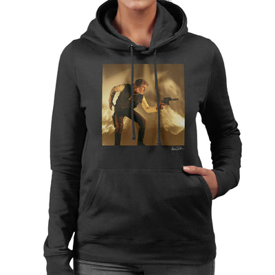 Star Wars Behind The Scenes Han Solo Gun Women's Hooded Sweatshirt - Don't Talk To Me About Heroes