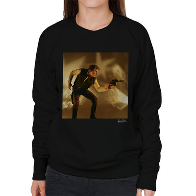 Star Wars Behind The Scenes Han Solo Gun Women's Sweatshirt - Don't Talk To Me About Heroes