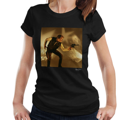Star Wars Behind The Scenes Han Solo Gun Women's T-Shirt - Don't Talk To Me About Heroes