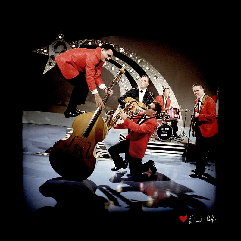 Bill Haley And The Comets Double Bass Balancing Men's Varsity Jacket - Don't Talk To Me About Heroes