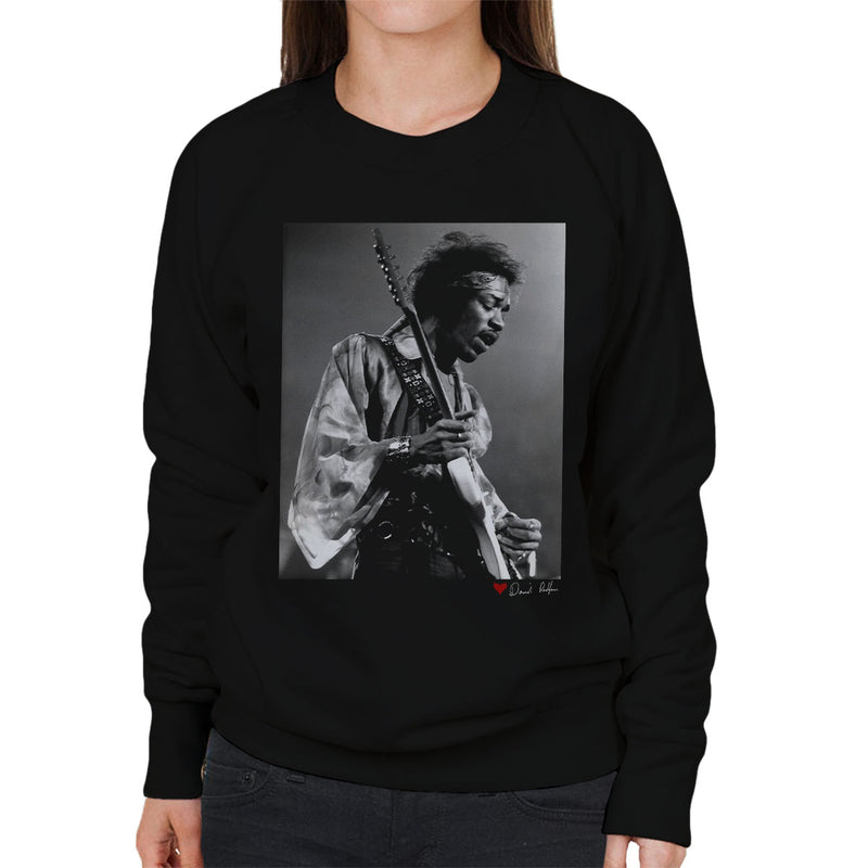 Jimi Hendrix At The Royal Albert Hall 1969 B&W Women's Sweatshirt