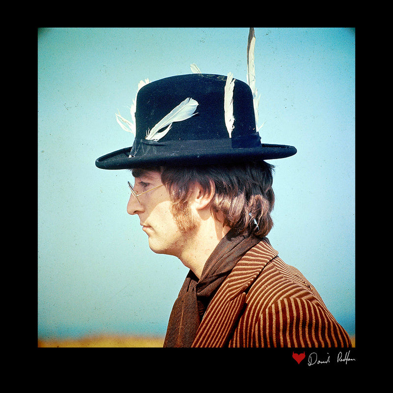 John Lennon With Feather Hat