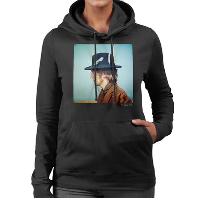 John Lennon With Feather Hat Women's Hooded Sweatshirt