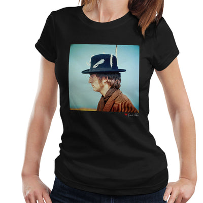 John Lennon With Feather Hat Women's T-Shirt - Don't Talk To Me About Heroes