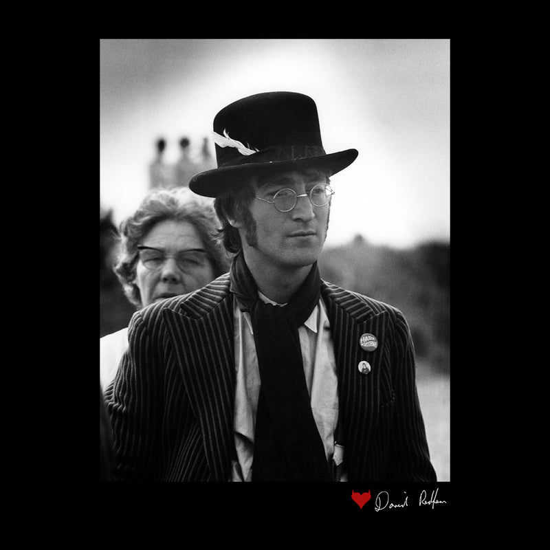 John Lennon With Feather Hat B&W