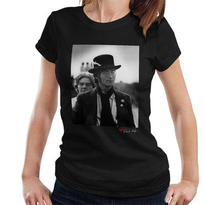 John Lennon With Feather Hat B&W Women's T-Shirt