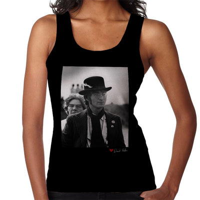 John Lennon With Feather Hat B&W Women's Vest - Don't Talk To Me About Heroes
