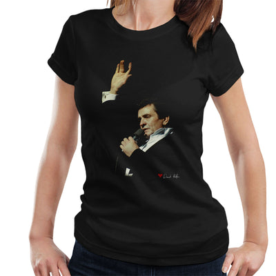 Johnny Cash Performing In London 1983 Women's T-Shirt