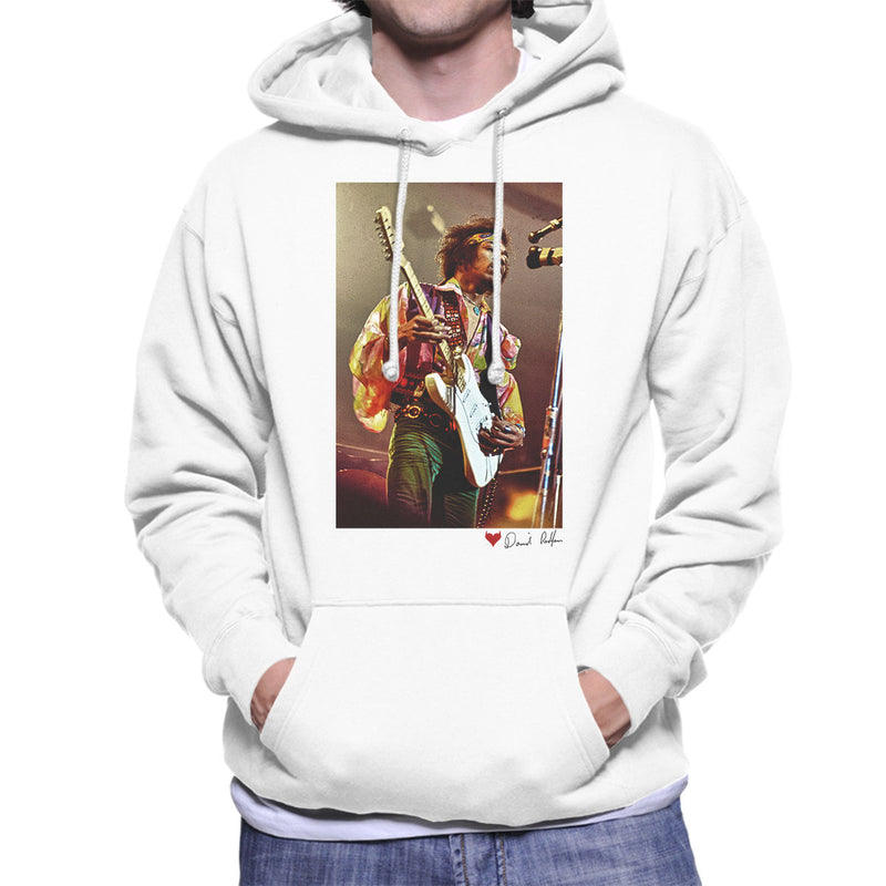 Jimi Hendrix At The Royal Albert Hall 1969 White Men's Hooded Sweatshirt - Don't Talk To Me About Heroes