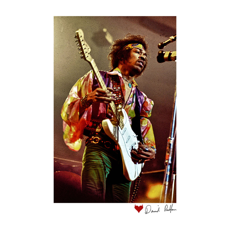 Jimi Hendrix At The Royal Albert Hall 1969 White Women's Vest - Don't Talk To Me About Heroes