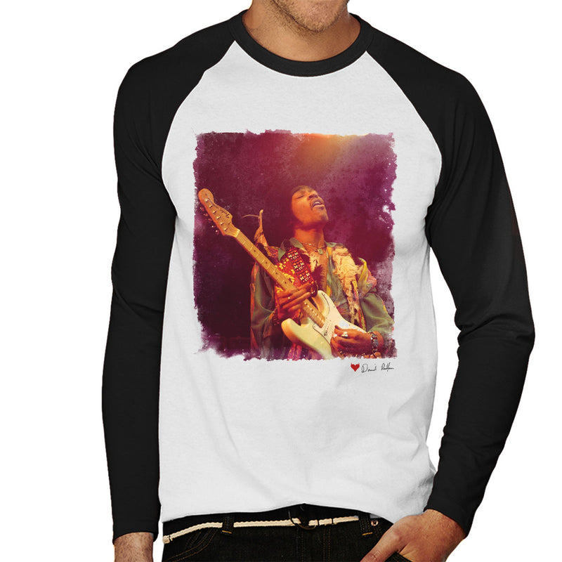 Jimi Hendrix At The Royal Albert Hall 1969 Soloing White Men's Baseball Long Sleeved T-Shirt - Don't Talk To Me About Heroes