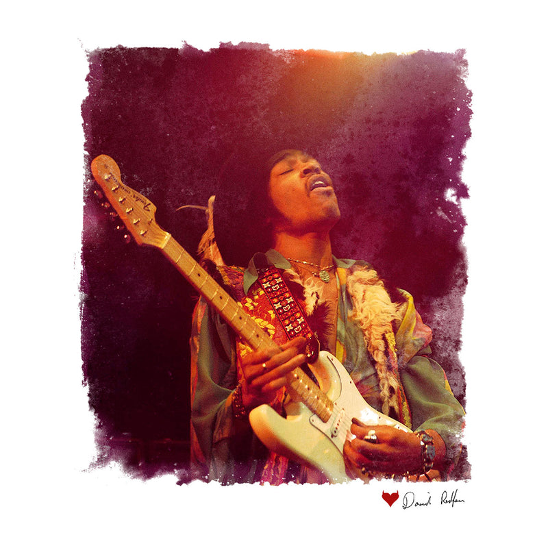 Jimi Hendrix At The Royal Albert Hall 1969 Soloing White Men's Hooded Sweatshirt - Don't Talk To Me About Heroes