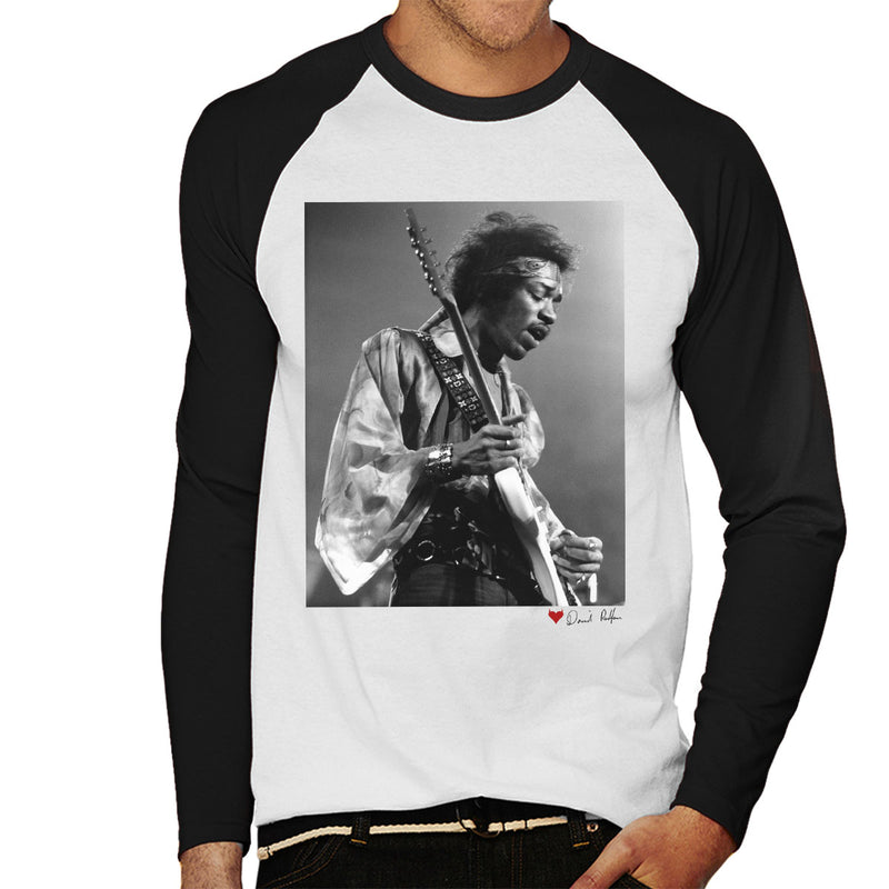 Jimi Hendrix At The Royal Albert Hall 1969 Alt White Men's Baseball Long Sleeved T-Shirt - Don't Talk To Me About Heroes
