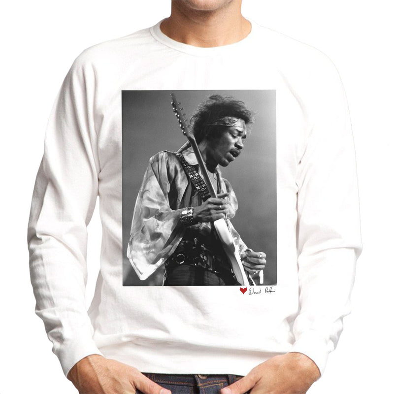 Jimi Hendrix At The Royal Albert Hall 1969 Alt White Men's Sweatshirt