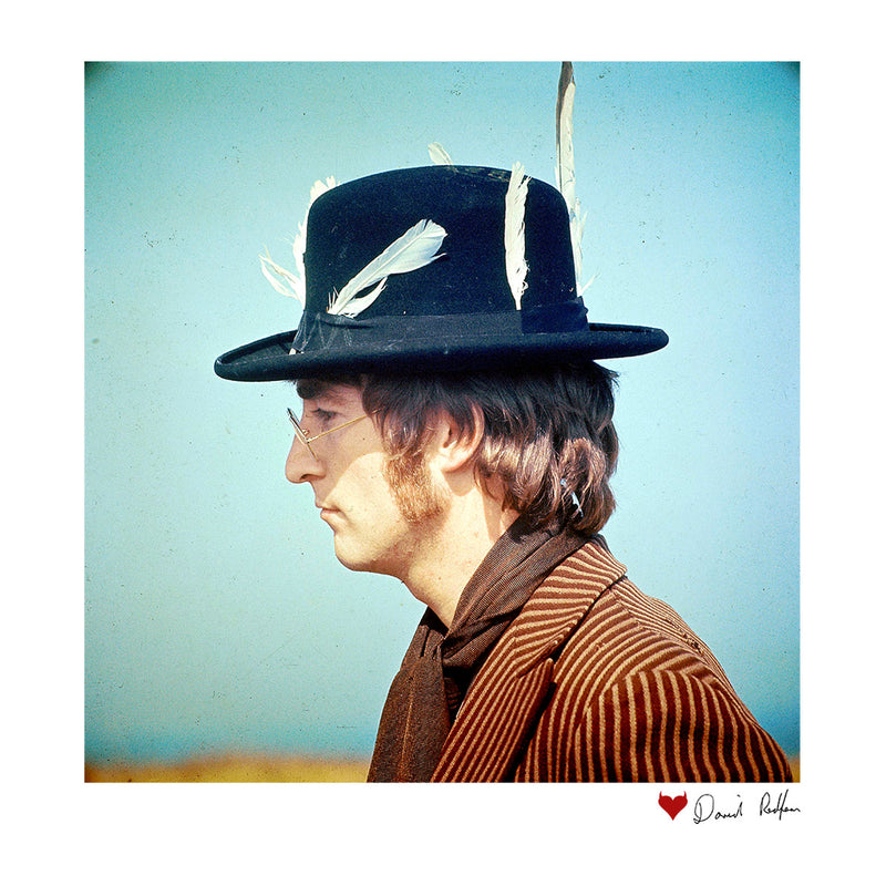 John Lennon With Feather Hat White