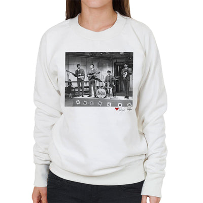 The Beatles Ready Steady Go London 1964 White Women's Sweatshirt - Don't Talk To Me About Heroes
