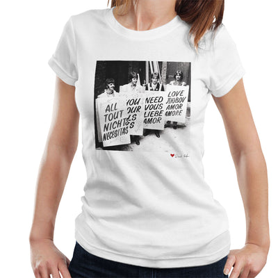 The Beatles All You Need Is Love Abbey Road Studios 1967 White Women's T-Shirt
