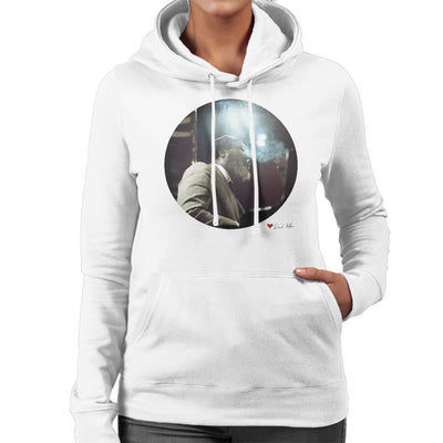 Thelonious Monk Performing At Ronnie Scotts London 1969 White Women's Hooded Sweatshirt