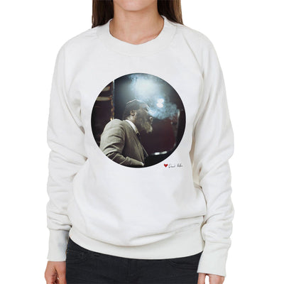 Thelonious Monk Performing At Ronnie Scotts London 1969 White Women's Sweatshirt