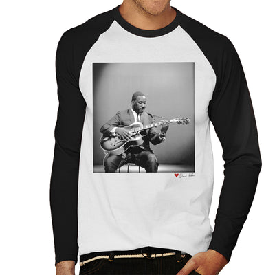 Wes Montgomery Playing Guitar 1964 White Men's Baseball Long Sleeved T-Shirt