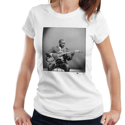 Wes Montgomery Playing Guitar 1964 White Women's T-Shirt