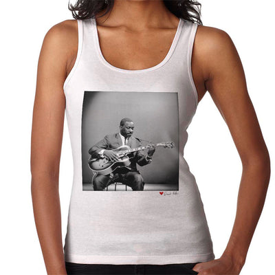 Wes Montgomery Playing Guitar 1964 White Women's Vest - Don't Talk To Me About Heroes