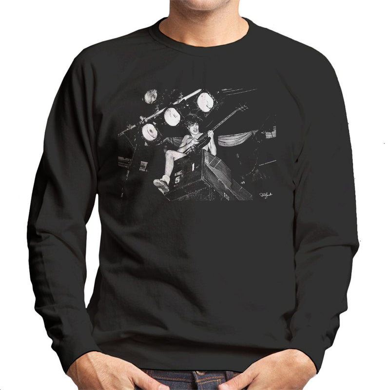 ACDC Angus Young On Stage Men's Sweatshirt - Don't Talk To Me About Heroes