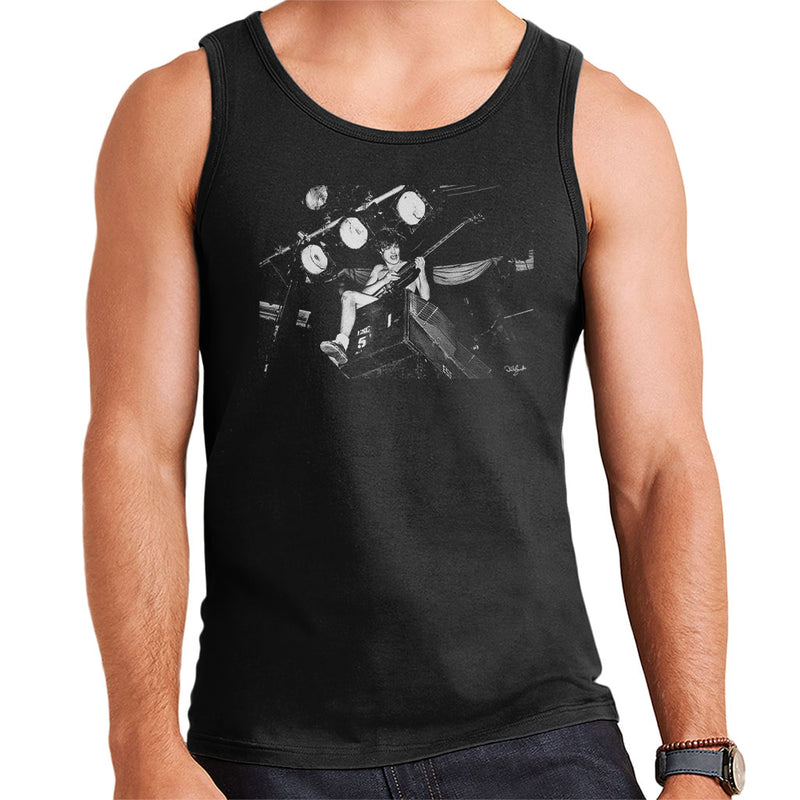 ACDC Angus Young On Stage Men's Vest - Don't Talk To Me About Heroes