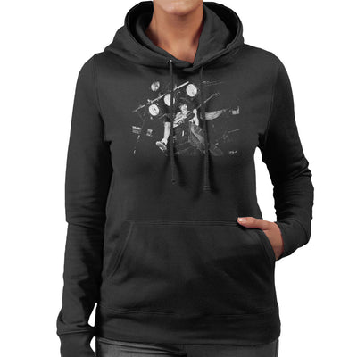 ACDC Angus Young On Stage Women's Hooded Sweatshirt - Don't Talk To Me About Heroes