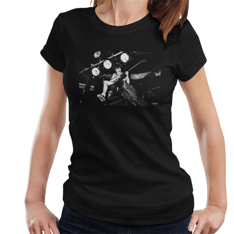ACDC Angus Young On Stage Women's T-Shirt - Don't Talk To Me About Heroes