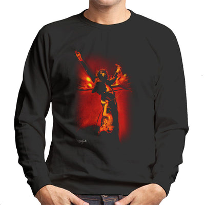 Led Zeppelin Jimmy Page Holding Les Paul Men's Sweatshirt - Don't Talk To Me About Heroes