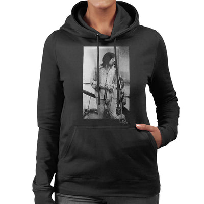 Rolling Stones Mick Jagger Rehearsal Apple Studios London Women's Hooded Sweatshirt - Don't Talk To Me About Heroes