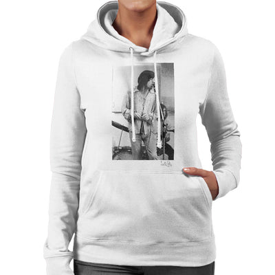 Rolling Stones Mick Jagger Apple Studios London White Women's Hooded Sweatshirt - Don't Talk To Me About Heroes