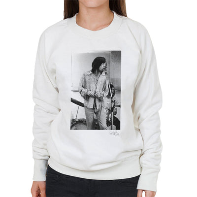 Rolling Stones Mick Jagger Apple Studios London White Women's Sweatshirt - Don't Talk To Me About Heroes