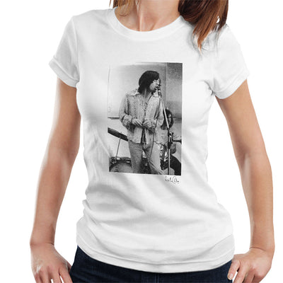 Rolling Stones Mick Jagger Apple Studios London White Women's T-Shirt - Don't Talk To Me About Heroes