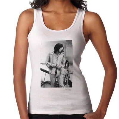 Rolling Stones Mick Jagger Apple Studios London White Women's Vest - Don't Talk To Me About Heroes