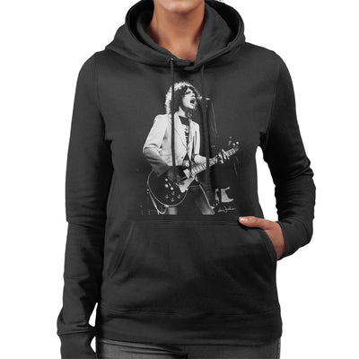Marc Bolan 1977 Women's Hooded Sweatshirt - Don't Talk To Me About Heroes