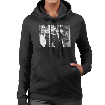 The Damned Outside Stiff Records 1977 Women's Hooded Sweatshirt - Don't Talk To Me About Heroes