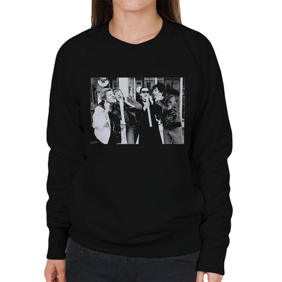 The Damned Outside Stiff Records 1977 Women's Sweatshirt - Don't Talk To Me About Heroes
